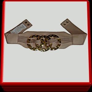 Bebe Elastic Stretch Leather Belt - Size P/S - NEW